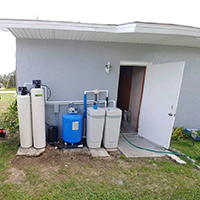Well Water Treatment Installation