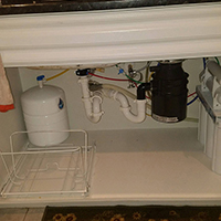 Under The Sink Reverse Osmosis System And Water Softener Installation