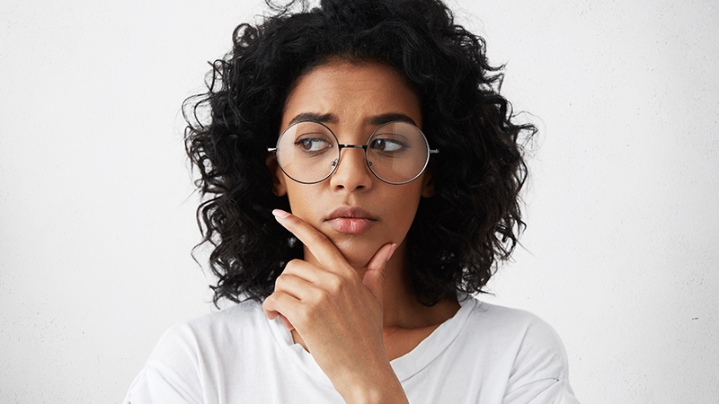 woman thinking, What do I do about my hard water