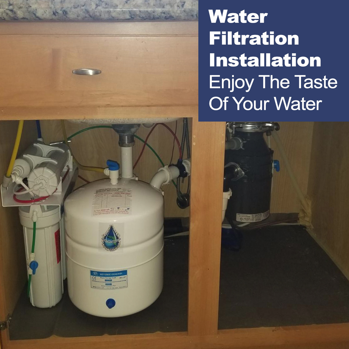 water filtration installation