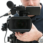 Professional video camera operator